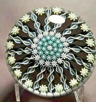Attractive Perthshire Compact Millefiori with Radiating Canes Glass Paperweight