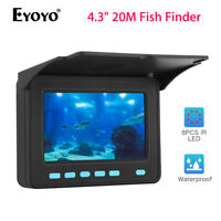 Eyoyo 4.3quot; 20M Fish Finder Used 6 8 Hours IP68 Underwater Fishing Video Camera