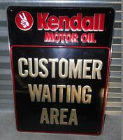 Kendall Motor Oil Embossed 24quot; Gas Station Motor OIl Sign