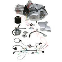 125cc 4 stroke ATV Engine Motor Semi Auto w Reverse Electric Start WiringCarb