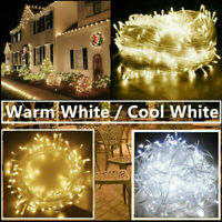 Warm White LED Christmas Tree Fairy String Party Light Outdoor Indoor Xmas Lamp