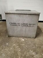 Vintage Large Metal FRANKLIN LAKES DAIRY NJ Porch Milk Box