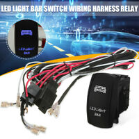 ATV LED Light Bar Rocker Switch ON OFF 40A Relay Wiring Harness Kit For JEEP
