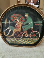 1920#x27;s lady#x27;s rolling wicker chair on the boardwalk SMALL SUITCASE color graphic