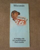 Phillips 66 map 1972 Wisconsin Vintage state map