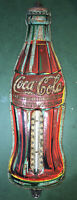 Antique Coca Cola Bottle Thermometer Dated Christmas Day 1923 Coke Soda Vintage