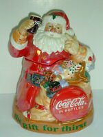 Ceramic Santa Claus COCA COLA Cookie Jar the Gift for Thirst Christmas