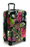 TUMI V4 International Carry On Spinner Luggage Collage Floral Expandable
