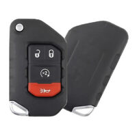 Replacement for Jeep Wrangler 2018 2020 Smart Remote Flip Key Starter OHT1130263 $60.38