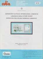 PRP 217 SPAIN ANTILLES 1990 LG2017 NEW ISSUE FLYER LONDON90 PAQUEBOT SHIP BARCO $3.99