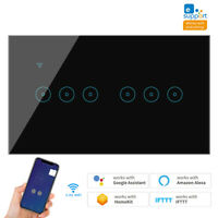 4 5 6 Gang WiFi Smart Touch Wall Light Switch for Alexa Google Home US $33.99