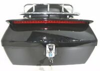 Motorcycle Tour Pack Trunk Tail Luggage Box W Tail Light amp; Top rack amp; Backrest