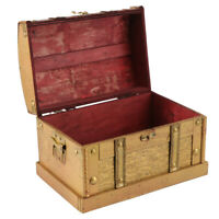 Treasure Chests Vintage Storage Box Organizer Rustic Wooden Colonial Style Trunk