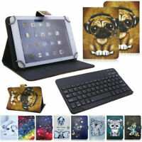 Universal Keyboard Printed Leather Case Cover For 10 10.1 inch Android Tablet PC $11.99
