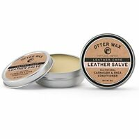 Otter Wax Leather Salve 2oz All Natural Universal Conditioner Made in USA $14.04