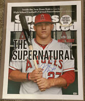 """Mike Trout Signed 15x20 Sports Illistrated """"The Supernatural"""" Photo MLB Holo"""