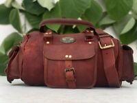 Women#x27;s Leather Travel Bag Duffel Weekend Duffle Overnight Carry Luggage 13 INCH
