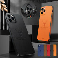 For iPhone 12 Pro Max 11 XR XS 8 7 Plus Case Thin Leather Rubber Phone Cover