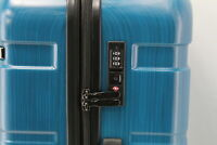 Coolife Luggage Expandable 28in Spinner Suitcase w Built In Lock Caribbean Blue