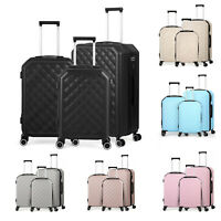PCABS 3 Piece Luggage Suitcase Set with Lock Silent Spinner Wheels 20 24 28 in