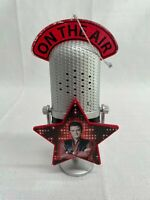 """Used On the Air Elvis Presley Microphone Ornament 6"""" Tall Lights Up with Song"""