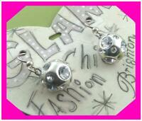 BRIGHTON COVER GIRL Crystal Silver French Wire EARRINGS Nwtag
