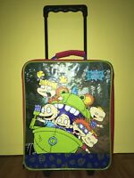 Vintage Rugrats Movie Rolling Suitcase 16quot; Kids Trolley Luggage Carry On Handle