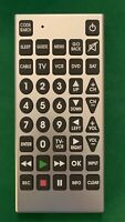 JUMBO Remote w Large Buttons Cable TV Guide DVD VCR SAT Input Cleaned amp; Tested $9.50