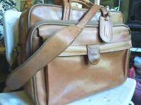 vintage Hartmann American Belting Leather Attache Briefcase canry on # 11