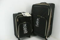 Kenneth Cole Reaction 5718025 2 Piece Chevron Quilted Spinner Luggage Set Black