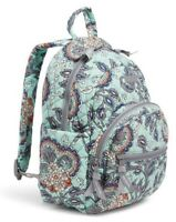 """New VERA BRADLEY Essential Compact BACKPACK Small Cotton """"Fan Flowers"""" $98"""