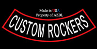 CUSTOM EMBROIDERED BOTTOM ROCKER EMBROIDERY PATCH 13