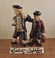 STAFFORDSHIRE STYLE STATUETTE PARSON AND CLERK FIGURINE - SHIPS FREE
