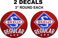 2 Skelly Gasoline Decals Great For Gas Oil Cans Dioramas and more Nice