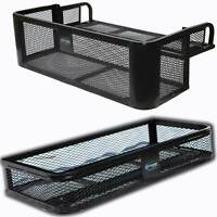 Titan Ramps Universal Front ATV HD Steel Cargo Basket w/Rear Drop Basket Set
