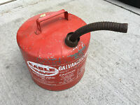 BS7 VINTAGE EAGLE Metal Gas Can 5 Gallon galvanized steel vented, Model# SP 5