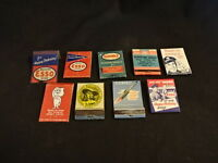 ESSO Oil & Gas Matches Matchbox LOT Drop Boy Humble Atlas Supreme Motoring