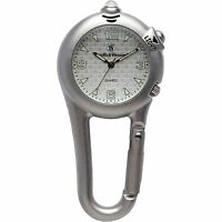 Smith & Wesson SWW-36-SLV Carabiner Classic Watch With LED Light And Belt Clip