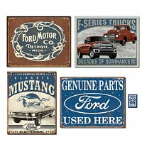Vintage Ford Tin Sign Bundle - Ford Motor Co. Historic Logo, Classic Mustang,...