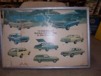 1973 Chevrolet Dealer Showroom Poster Nova Vega