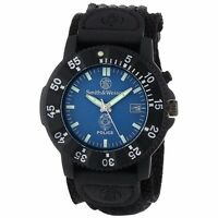 Rugged Smith&Wesson SWW-455P Police Blue Dial Black Nylon Strap Wrist Watch