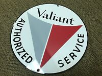 Valiant service vintage Plymouth Chrysler round sign reproduction grey