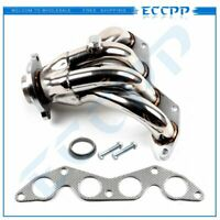 For 01-05 Honda Civic EX 1.7L SOHC Polished S/S Racing Manifold Header Exhaust