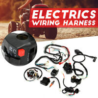 Full Electrical Wiring Harness Kit For Chinese Dirt Bike ATV QUAD 150-250 300CC