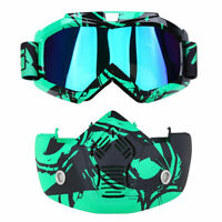 Outdoor ATV Anti Dust Wind UV Bike Face Mask Goggles Eyewear Glasses Protective