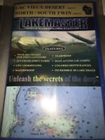 lakemaster north/ south twin And Lac Vieux Desert wisconsin map