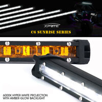 Xprite Single Row LED Light Bar Amber Sunrise Series Backlight Truck ATV offroad