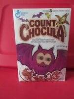 VINTAGE 1992 COUNT CHOCULA  CEREAL BOX WITH CUT OUT BAT LENTICULAR EYES UNOPENED