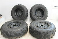 2004 YAMAHA KODIAK 400 YFM400FA 4X4 FRONT REAR WHEELS RIMS W TIRES