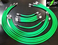 # 4 Awg HD Golf Cart Battery Cable 13 pc GREEN TXT E-Z-GO Set U.S.A MADE